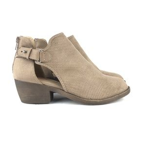 Jellypop Annalise Tan Suede Bootie Ankle Boot